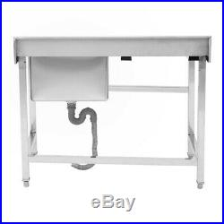 Commercial Restaurants Sink Stainless Steel Catering Kitchen Single Bowl Drainer
