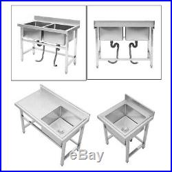 Commercial SINK Stainless Steel Handmade Washbasin Vanity Sink Catering Kitchen