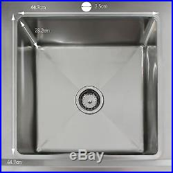 Commercial Sink Catering Kitchen LH Drainer 1.0 Bowl & Pre-Rinse Spray Mixer Tap