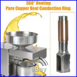 Commercial Stainless Steel Automatic Oil Press Machine Seeds Oil Pressing 220v