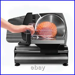 Commercial Stainless Steel Blade Electric Meat Deli Slicer Food Cutter Kitchen