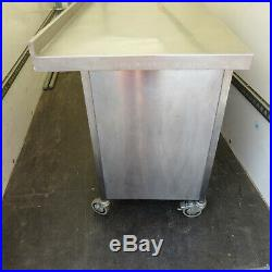 Commercial Stainless Steel Catering Cupboard on Wheels Kitchen Prep Area Bench