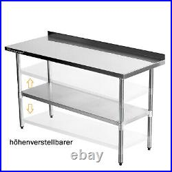 Commercial Stainless Steel Catering Table Work Bench Worktop Kitchen/restaurant