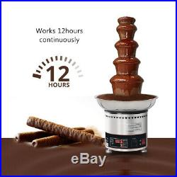 Commercial Stainless Steel Chocolate Fountain Machine 5 Tiers Capacity 4kgs CE