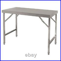 Commercial Stainless Steel Folding Mobile Kitchen Food Prep Work Table Bench Top