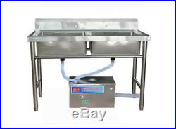 Commercial Stainless Steel Grease Trap Interceptor for Kitchen Wastewater New