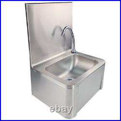 Commercial Stainless Steel Hand Wash Basin Knee Operated kitchen soap dispenser