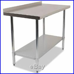 Commercial Stainless Steel Kitchen Food Prep Work Table Bench Top Various Widths