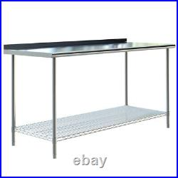 Commercial Stainless Steel Kitchen Workbench Catering Food Prepare Table Worktop