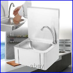 Commercial Stainless Steel Knee Operated Hand Wash Basin Sink 400330570mm UK