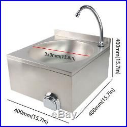 Commercial Stainless Steel Knee Operated Hand Wash Basin Sink Tap Kitchen Waste