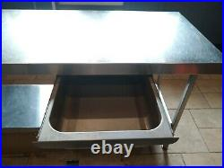 Commercial Stainless Steel Prep Table / Kitchen Work Bench Catering