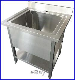 Commercial Stainless Steel Single Deep Large Pot Pan Wash Kitchen Container Sink