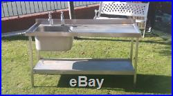Commercial Stainless Steel Sink Unit / Takeaway / Cafe / Kitchen / Restaurant