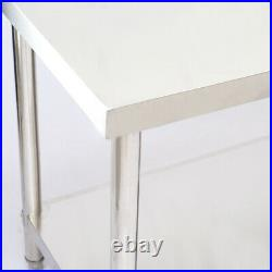 Commercial Stainless Steel Table Catering Work Bench Kitchen Worktop Wall Shelf