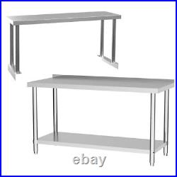 Commercial Stainless Steel Table Kitchen Catering Work Bench Top withStorage Shelf