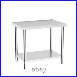 Commercial Stainless Steel Table Kitchen Food Prep Shelf Work Bench Double Layer