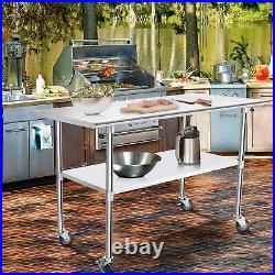 Commercial Stainless Steel Work Bench Catering Table Kitchen Prep Shelf Worktop