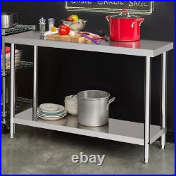 Commercial Stainless Steel Work Prep Table Bench Catering Kitchen Restaurant