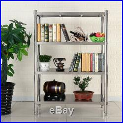 Commercial Storage Shelf Stainless Steel Kitchen 4Tiers Storage Shelving Racking
