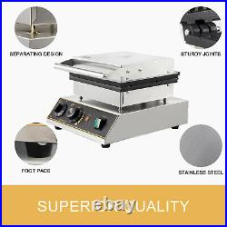 Commercial Waffle Maker Machine Muffin Maker Crispy Maker Stainless Steel 1750W