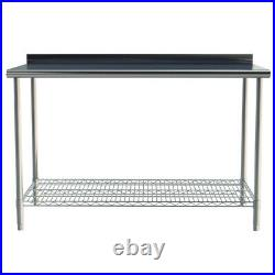 Commercial Work Bench Stainless Steel Kitchen Worktop Catering Prep Table Stand