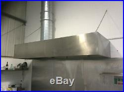 Commercial kitchen Extraction canopy stainless steel