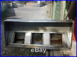 Commercial kitchen extraction stainless. 3 filters & speed controller 180 cm lon