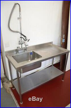 Commercial stainless sink unit Pre-rinse spray Restaurant Catering kitchen