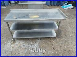 Commercial stainless steal table worktop kitchen table work bench 160X60X85 CM