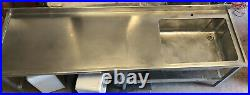 Commercial stainless steel bench With Large Sink 2440x685x870
