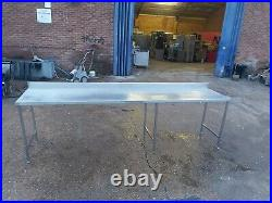 Commercial stainless steel large & long table worktop kitchen table 330X75X95cm