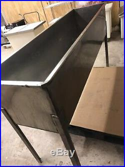 Commercial stainless steel single bowl sink slim line strong sink 165 x46x 37cm