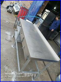 Commercial stainless steel table worktop kitchen table prep table 183X65X90 cm
