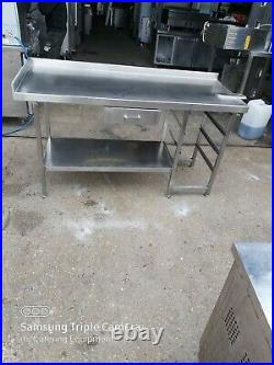 Commercial stainless steel table worktop kitchen table work bench 160X65X90 cm