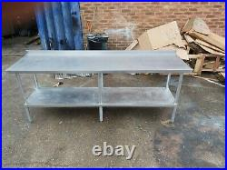 Commercial stainless steel table worktop kitchen table work bench 210X60X85 cm