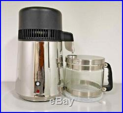 Cos(H=W) Stainless steel water distiller glass collection jug 4 litre capacity