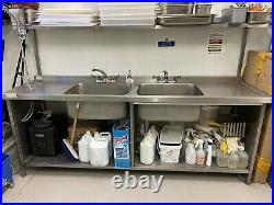 Custom Commercial Double Sink (Stainless Steel)
