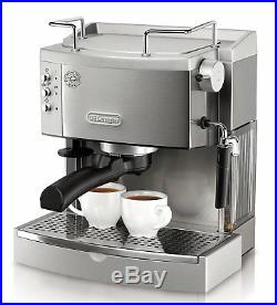 DeLonghi Stainless Steel Espresso Maker Commercial Electric Coffee Machine Home