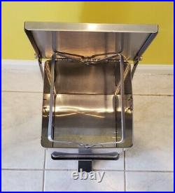 Detecto C-24 Commercial Stainless Steel Medical Step-On Trash Waste Can 24 quart