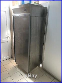Dexion upright stainless fridge single door for commercial kitchen