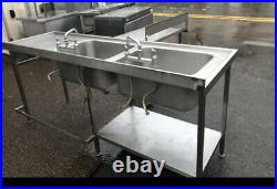 Double Bowl Stainless Steel Sink 4 Commercial Kitchens, Restaurants/ Canteens
