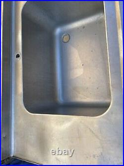 Double Twin Commercial Stainless Steel Sink Catering Takeaway Kebab Cafe Tap