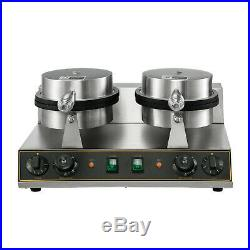 Double-head Waffle Maker Machine Commercial Electric Nonstick Stainless Steel
