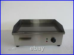 Electric Commercial Griddle Flat Hotplate Kitchen BBQ Grill Stainless Steel 54cm
