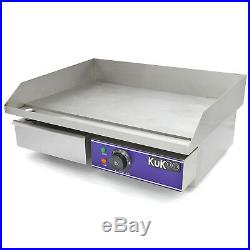 Electric Griddle 50cm BBQ Commercial Catering Kitchen Stainless Steel A4246