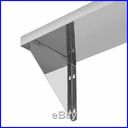 Empire Stainless Steel Shelves Commercial Kitchen Wall Shelf with Brackets
