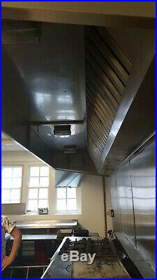 Full Canopy commercial kitchen 4.5m hood stainless steel extractor with motor