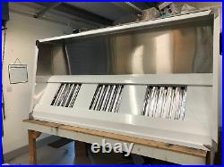 Full Extraction Kit 6ft Stainless Steel Commercial Kitchen Canopy (1.8m wide)