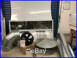 Full Kit 7ft Stainless Steel Commercial Kitchen Canopy Cooker Hood Extraction